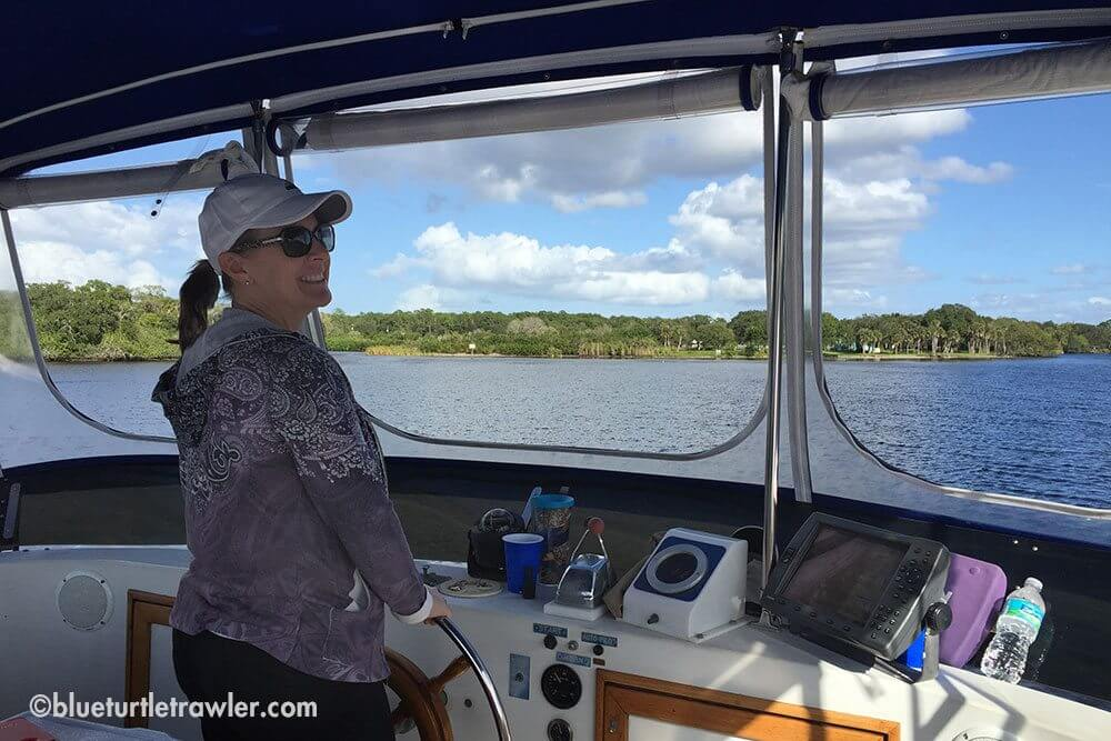 We even had my sister take the helm for a bit