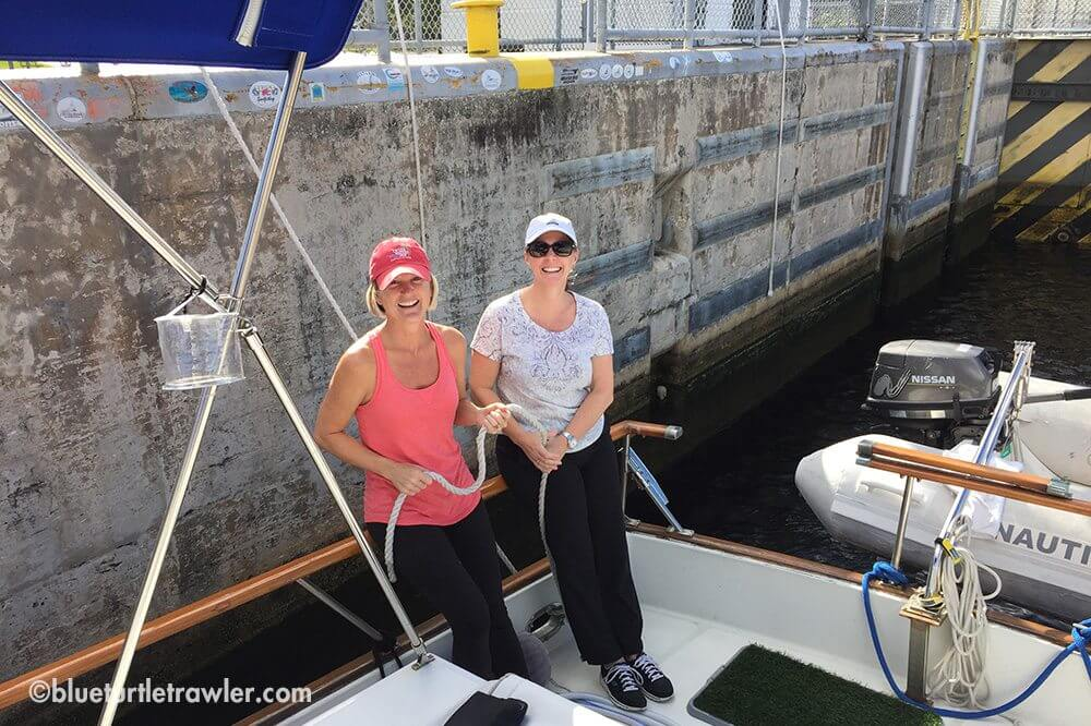 My sis and I with the stern line