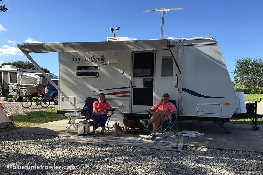Mom and Dad at their camp site