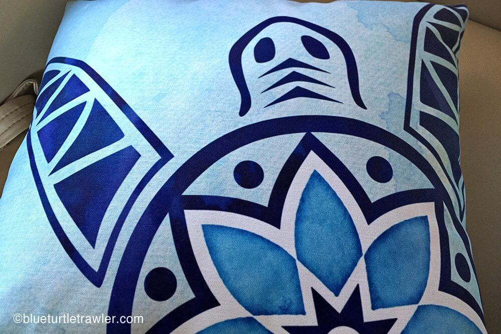 Close-up of our Blue Turtle emblem