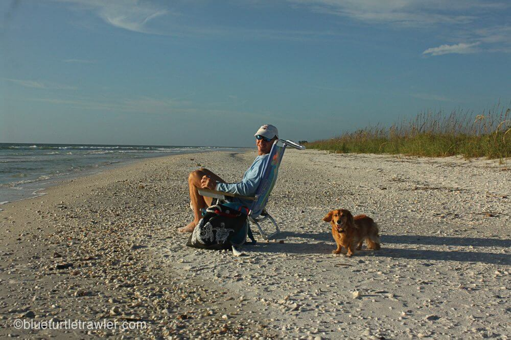 Randy, Corey, Sophie and I enjoyed having the beach to ourselves