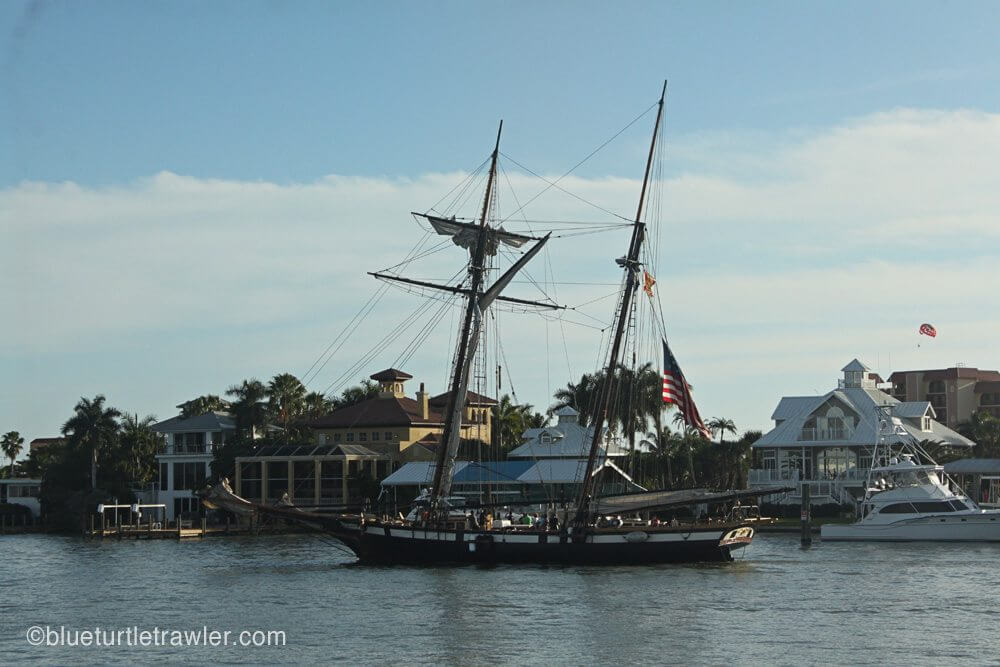 The Lynx Privateer heading in