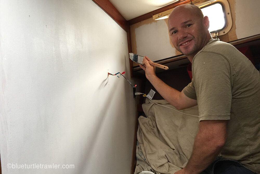 Randy applies the Kilz primer