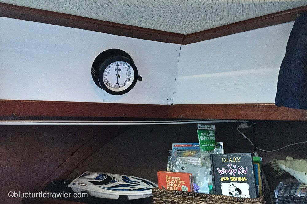 Corey's barometer installed after the paint