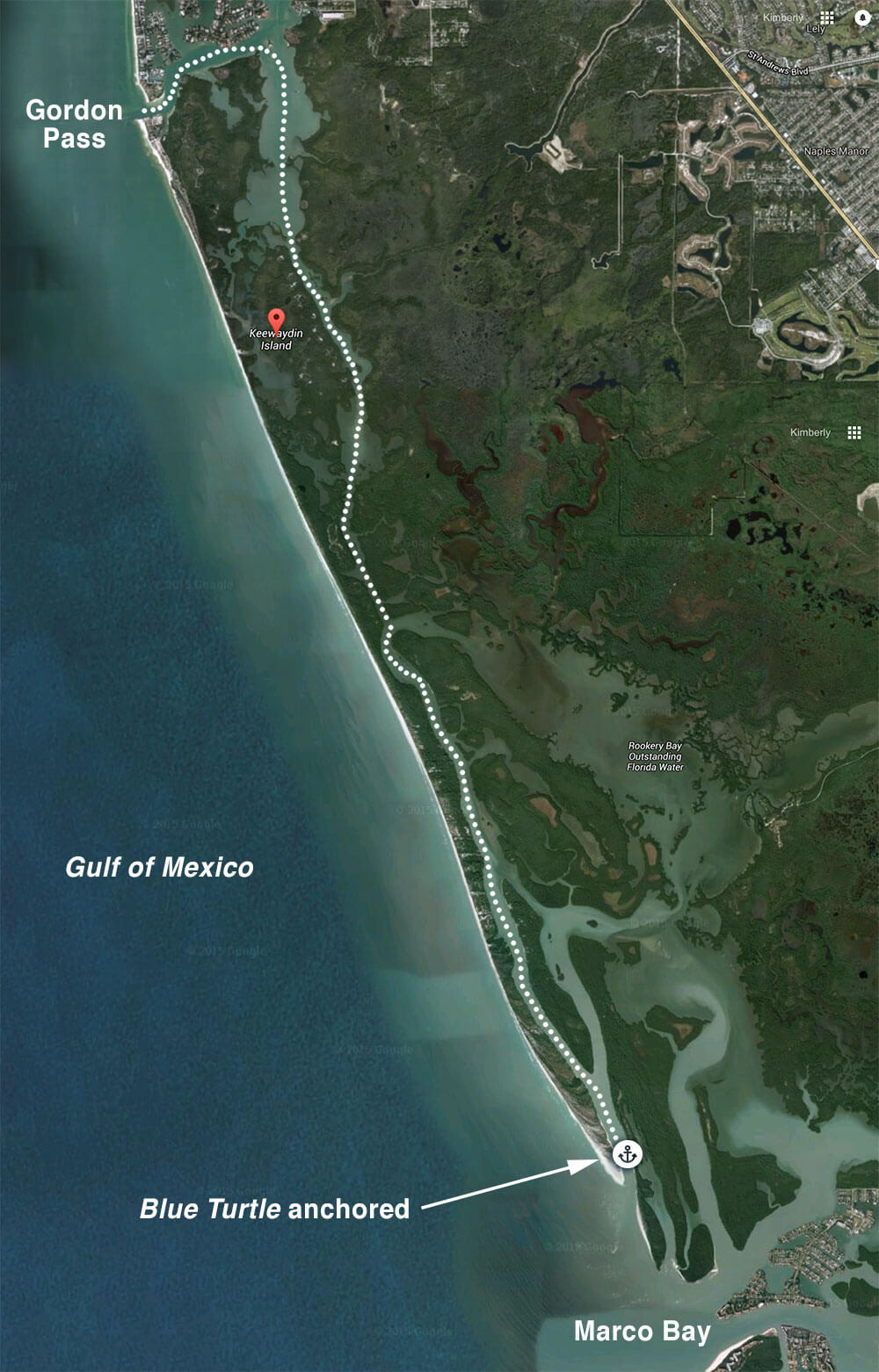 Keewaydin Island Map Post Christmas trip to Keewaydin Island | Blue Turtle Trawler