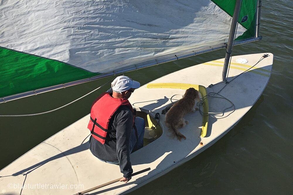 Randy takes Sophie out for a sail