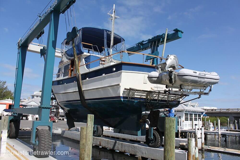 trawler hauled out