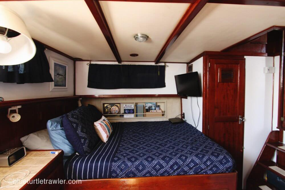 After: Freshly painted and clean aft cabin