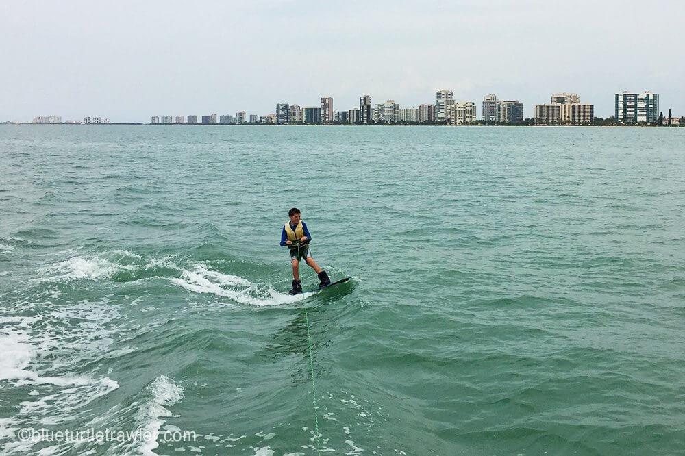 Trawler wake boarding