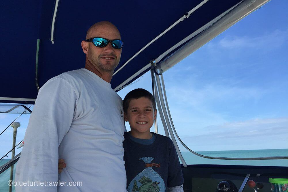 Boys at the helm