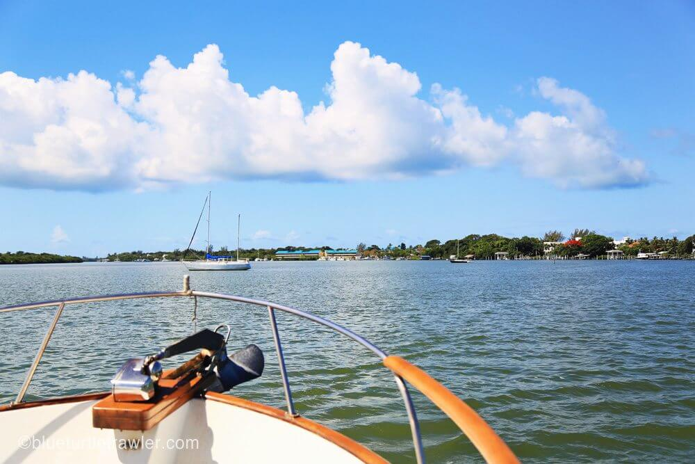 Arriving at our anchorage near Captiva