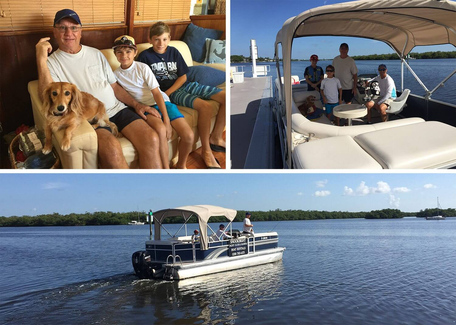 Randy takes some of the guys (including my Dad and nephews) out on a pontoon rental from Snook bight