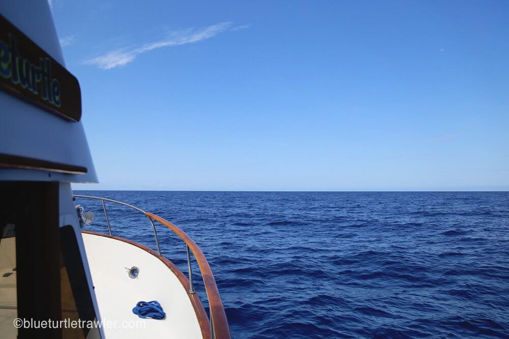 Beautiful blue - but wavy- water