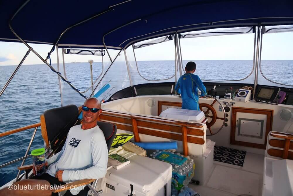 Corey takes the helm to give Captain Randy a break