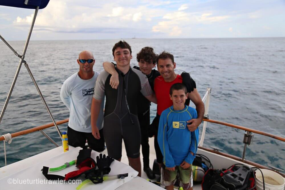 Our diving crew: Randy, Matt, Brandon, Scott, Corey and me (not pictured)