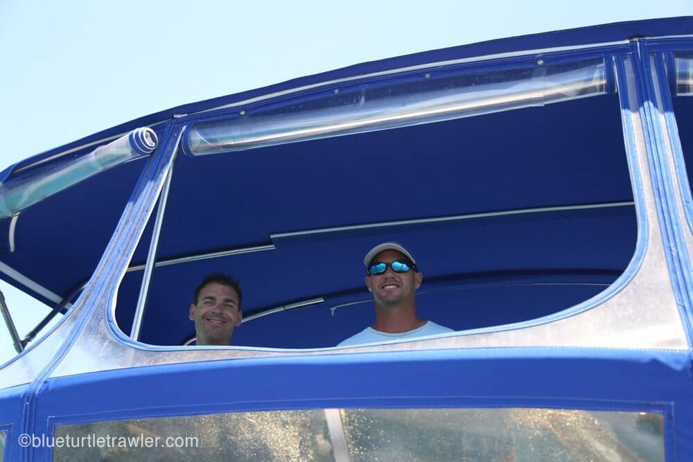 Scotty and Randy at the helm