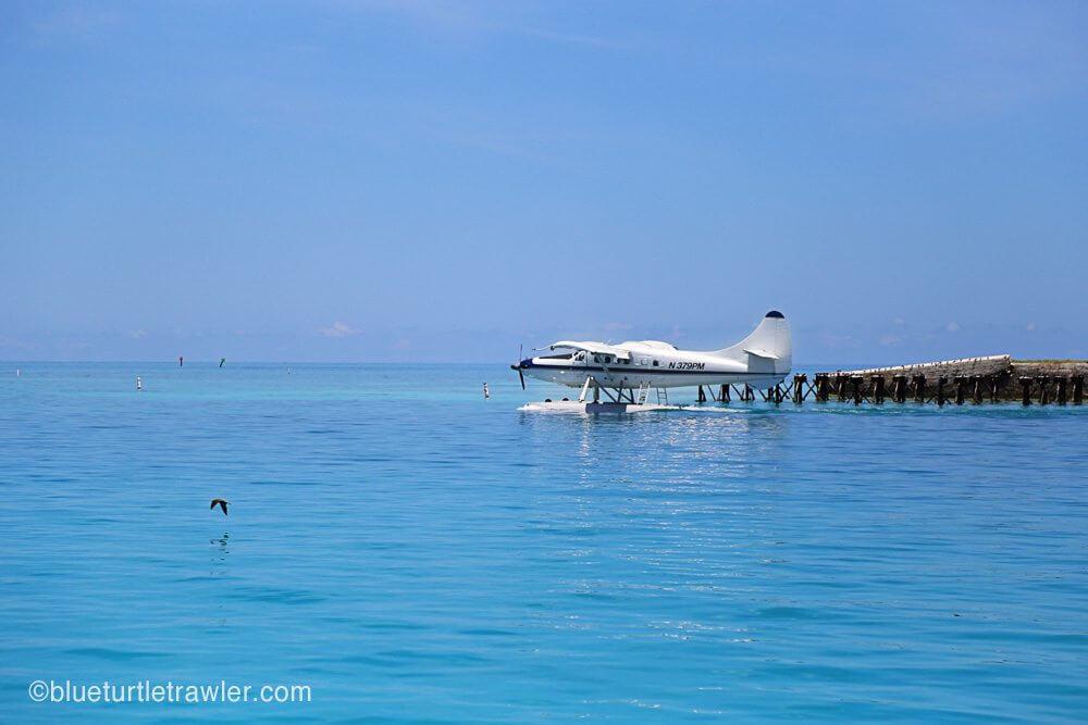 A sea plane takes off to Key West