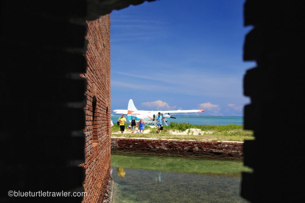 View of sea plane from the fort