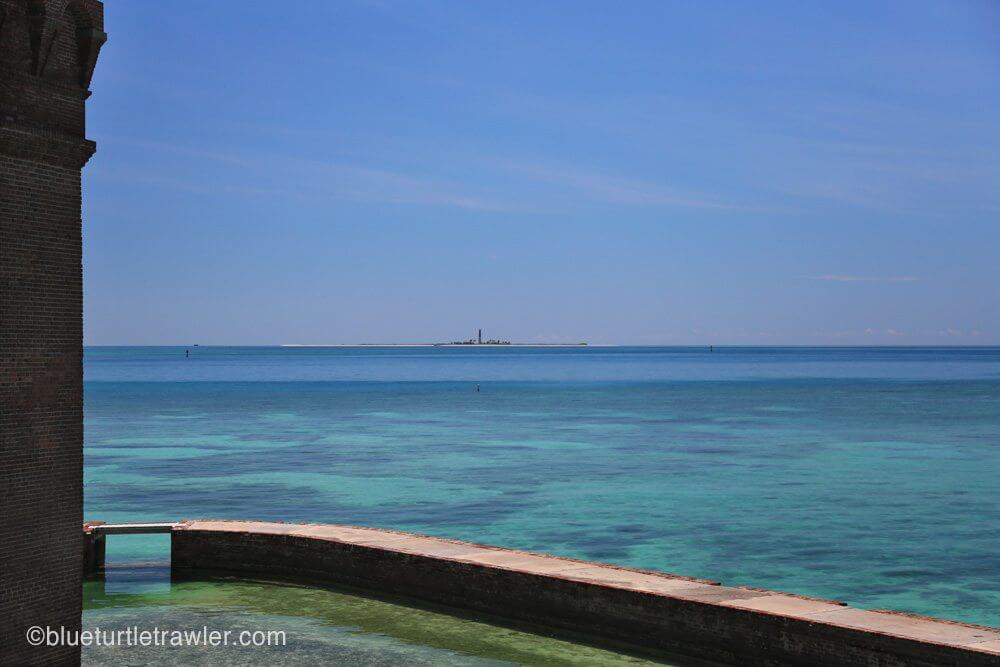 View of Loggerhead Key lighthouse from the fort