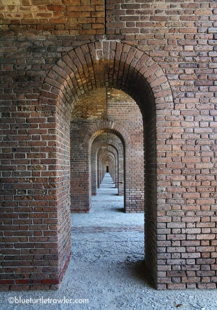 Fort interior archways