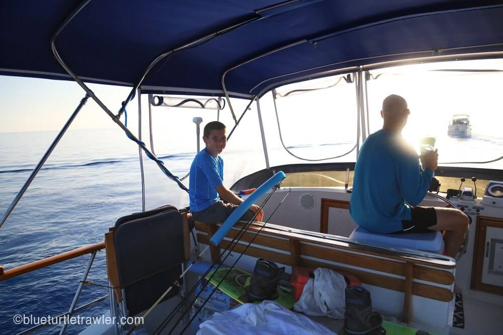 Corey and Captain Randy at the hem