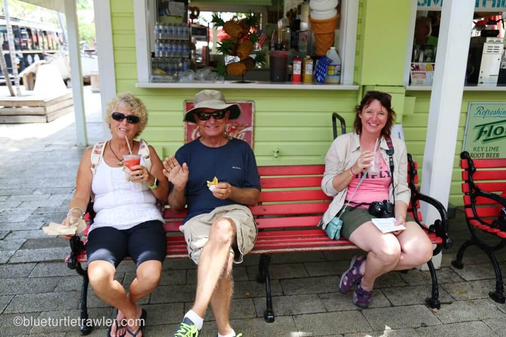 April, Johnny and Tammy keeping cool with smoothies