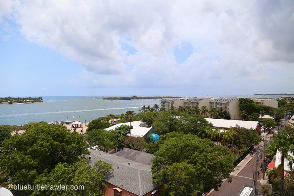 View of Key West from the top of the watchtower