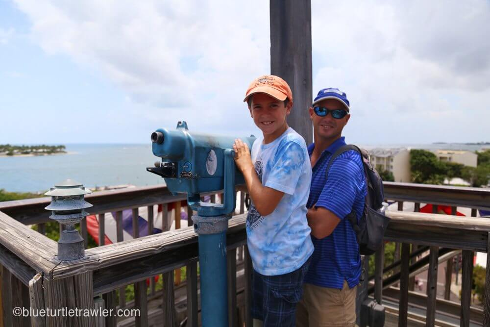 Randy & Corey looking out over Key West