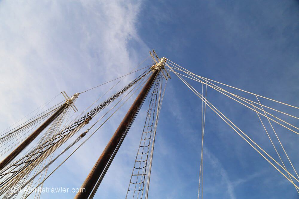 Mast and rigging of the Western Union
