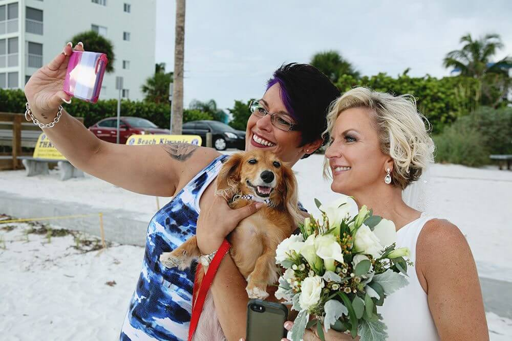 Rock Star Hair Stylist, Marcia and I taking a selfie with Sophie