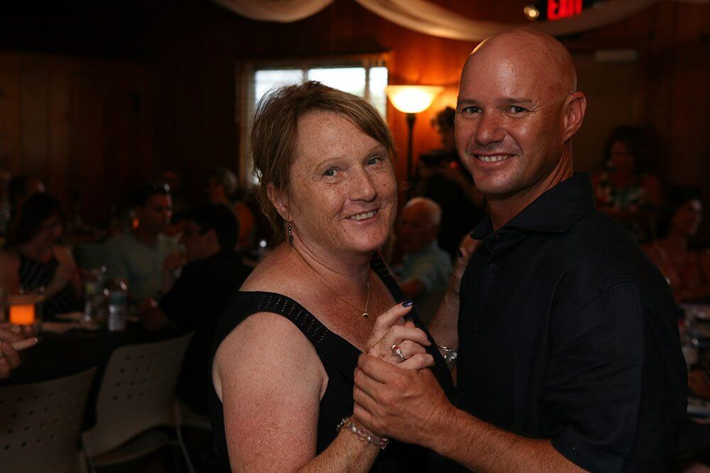 Randy dancing with his mother
