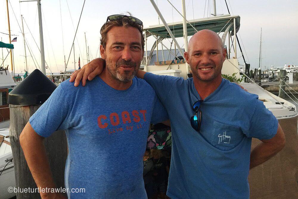 Randy with Eddie, who we met last year in Key West (were were on the same dock)