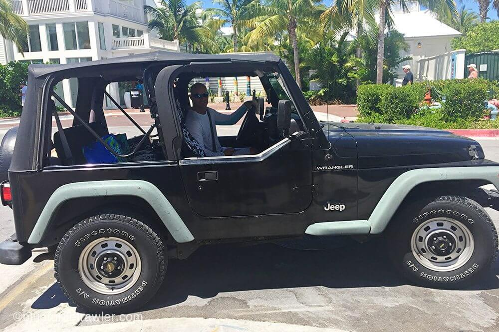 Randy and I borrowed Vinny's jeep for a grocery run