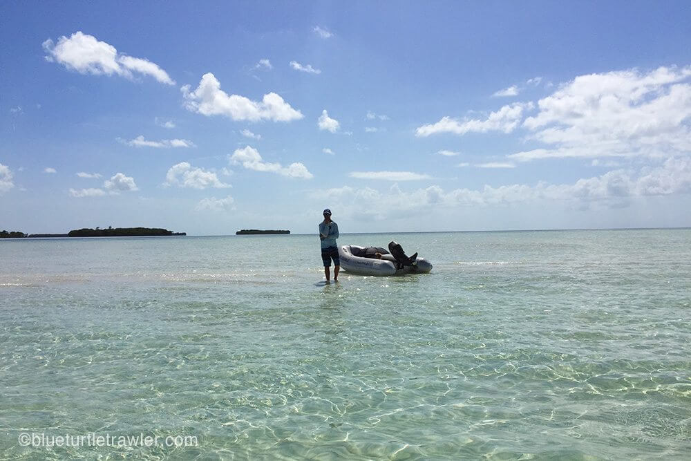 Exploring a different sandbar on the second day