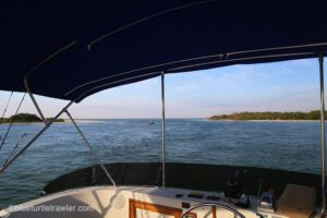 Finally off the dock – weekend at New Pass