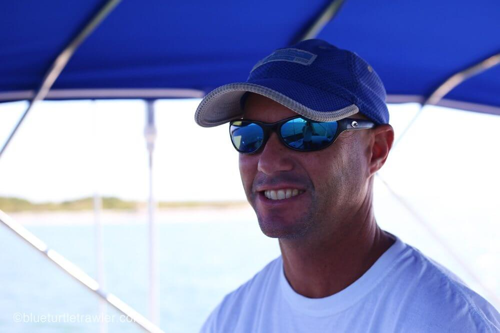 Captain Randy at the helm