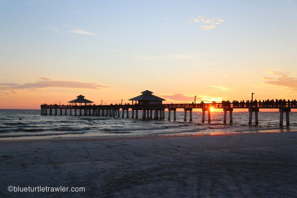 Sunset by the pier
