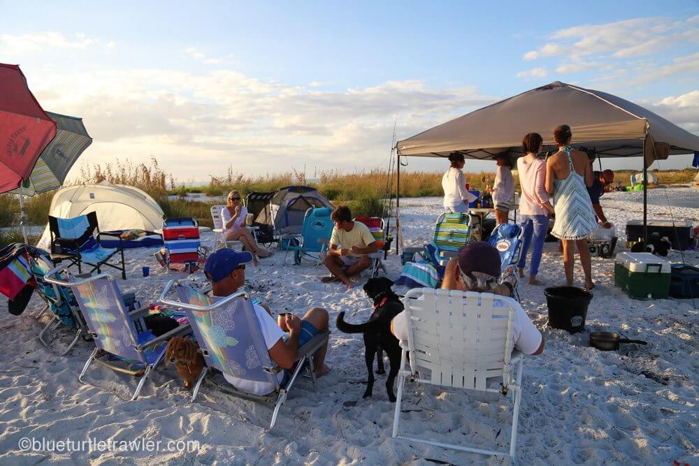 Friday beach party in fullswing
