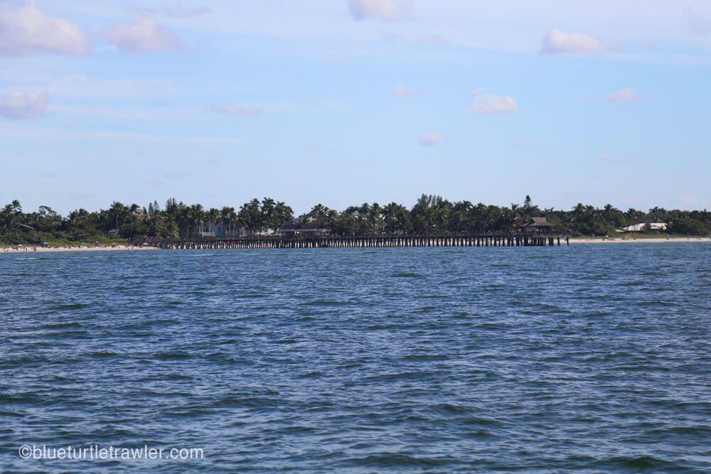 The Naples pier on our way north to New Pass