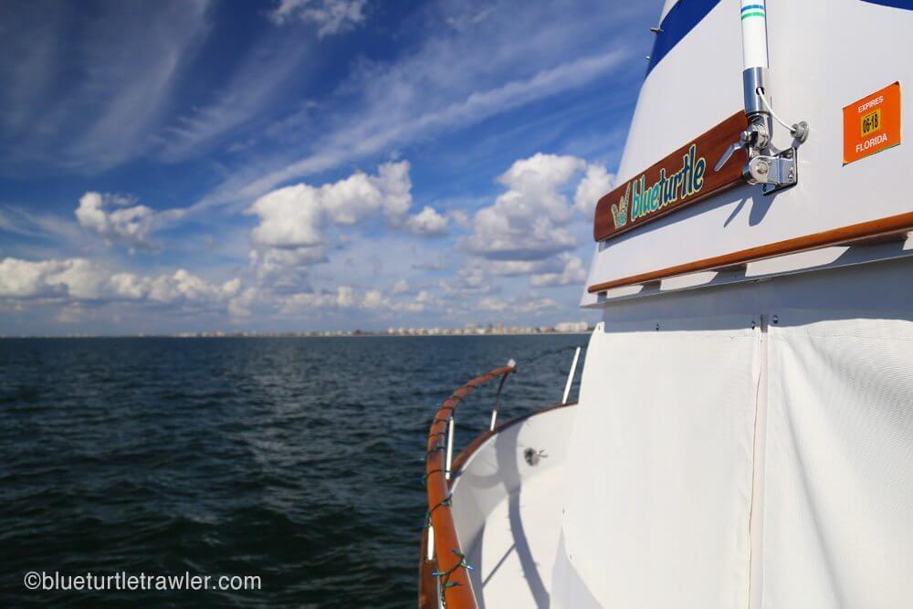 Heading north on the gulf