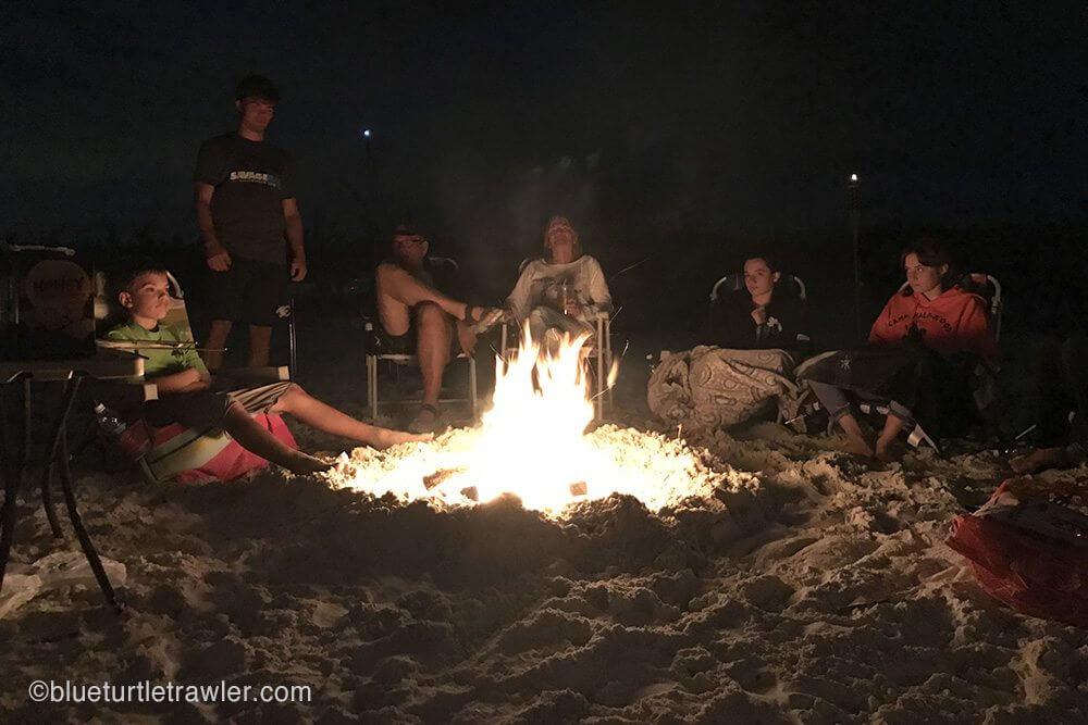 Beach bon fire is the best!