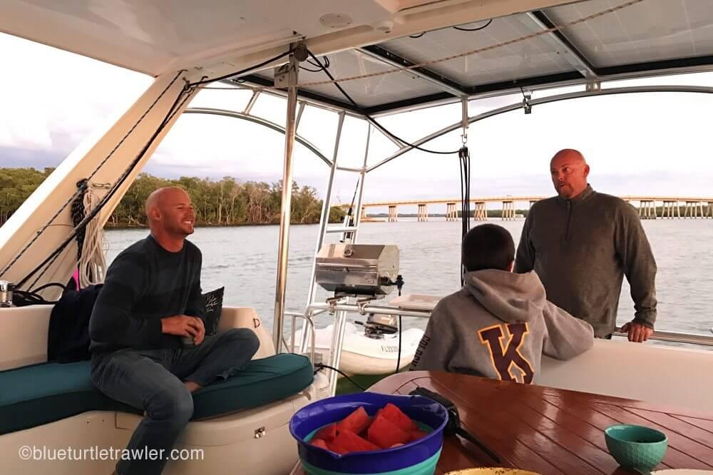 Randy, Corey and Chris aboard Sukha