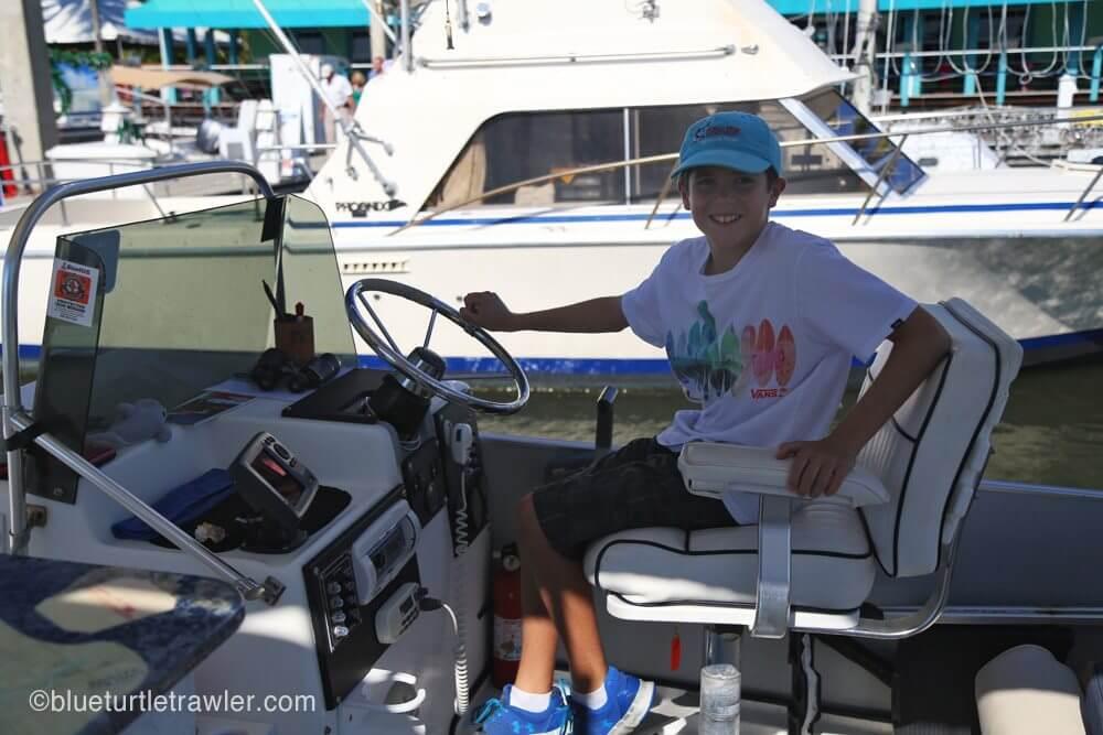 Captain Corey aboard Jaybird II