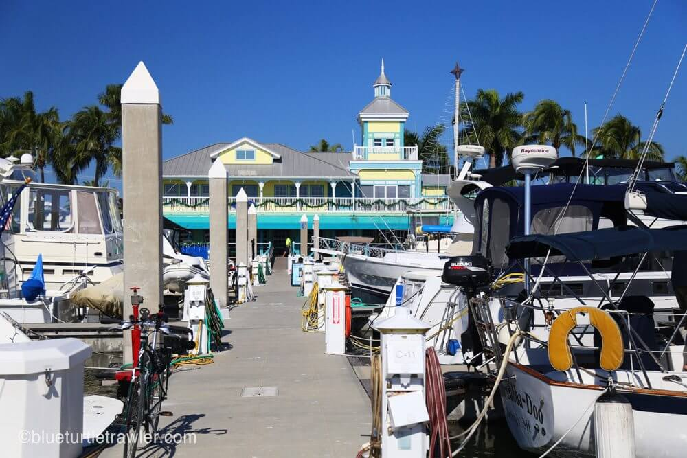 View of the Salty Sams Marina from C dock