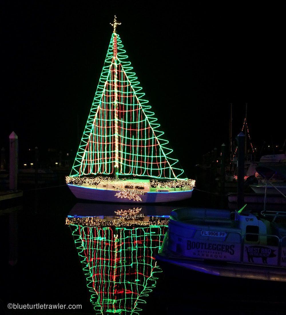 "Sams Christmas Trees: FMB Christmas Boat Parade & Salty Sam's ""stay-cation"