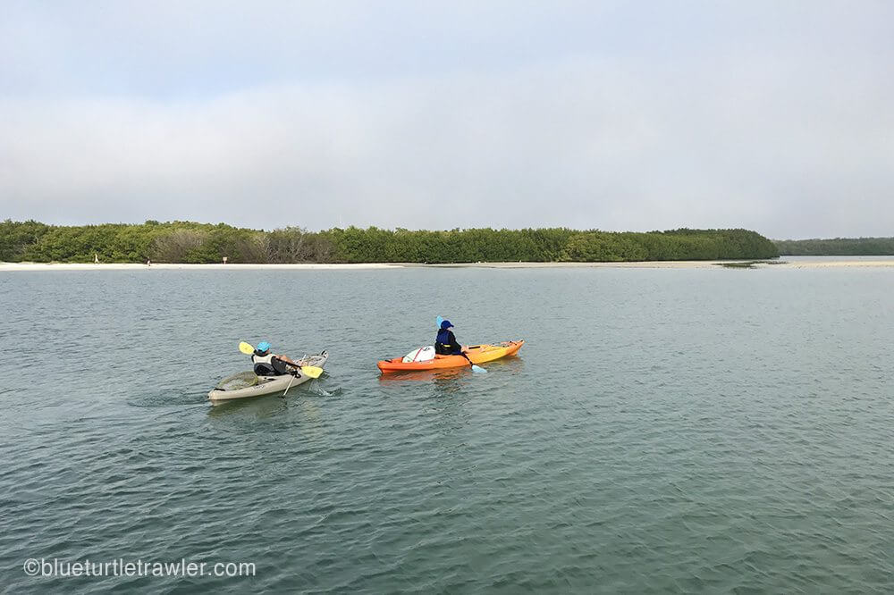 two kayakers