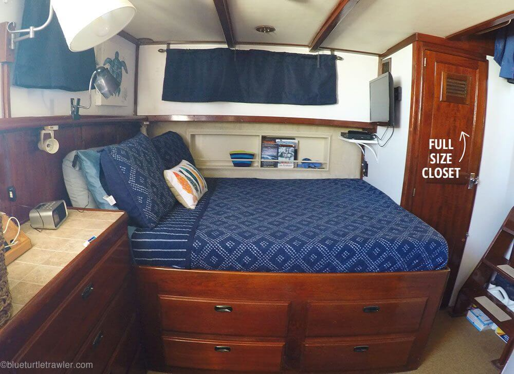 Tour inside our cozy live aboard trawler | Blue Turtle Trawler