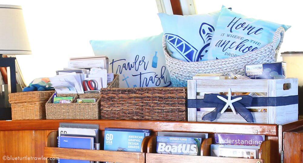 boat interior storage ideas baskets