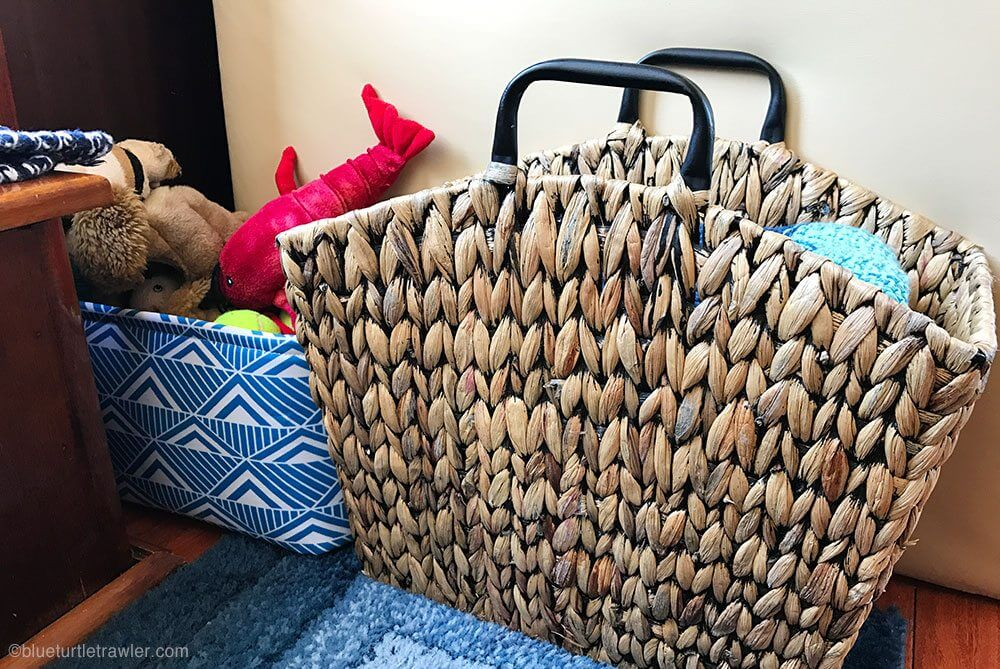 boat interior storage ideas baskets