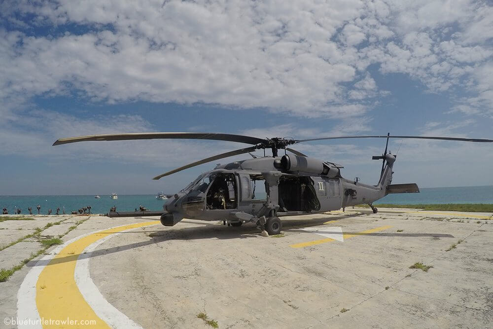 Air Force Pavehawk at Dry Tortugas